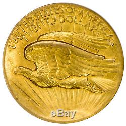 1907 $20 Gold High Relief-Wire Rim St. Gaudens, Double Eagle NGC MS62