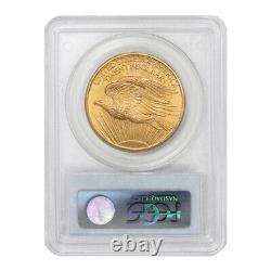 1907 $20 Gold Saint Gaudens Double Eagle PCGS MS66 gem graded Philadelphia coin