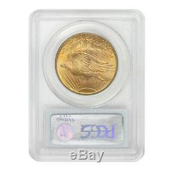 1907 $20 Gold Saint Gaudens PCGS MS65 gem graded Double Eagle twenty dollar coin