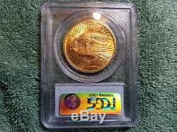 1907 $20 Gold St Gaudens Double Eagle PCGS MS63