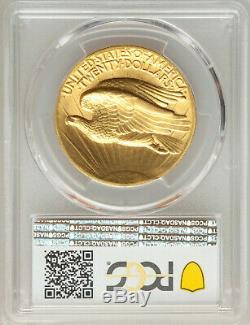 1907 $20 High Relief Flat Edge St Gaudens Gold Double Eagle PCGS MS63 CAC, Rare