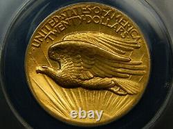 1907 $20 High Relief Gold Saint Gaudens Double Eagle AU-50 ANACS, Looks Higher