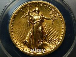 1907 $20 High Relief Saint Gaudens Double Eagle AU-50 ANACS, Looks Higher