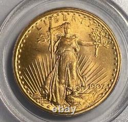 1907 $20 Saint Gaudens Double Eagle Pcgs Ogh Ms65 Old Green Holder! True Gem