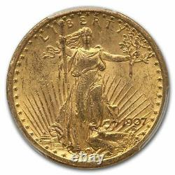 1907 $20 Saint-Gaudens Gold Double Eagle MS-61 PCGS SKU #56735
