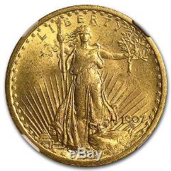 1907 $20 Saint-Gaudens Gold Double Eagle MS-62 NGC SKU #34089