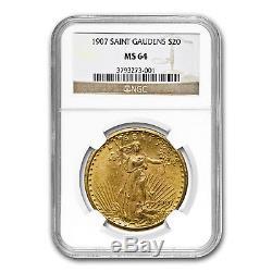 1907 $20 Saint-Gaudens Gold Double Eagle MS-64 NGC SKU#15542