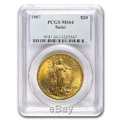 1907 $20 Saint-Gaudens Gold Double Eagle MS-64 PCGS SKU #19078