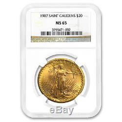 1907 $20 Saint-Gaudens Gold Double Eagle MS-65 NGC SKU#176371