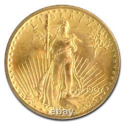 1907 $20 Saint-Gaudens Gold Double Eagle MS-65 PCGS SKU#167890