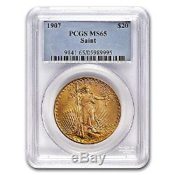 1907 $20 Saint-Gaudens Gold Double Eagle MS-65 PCGS SKU #8728