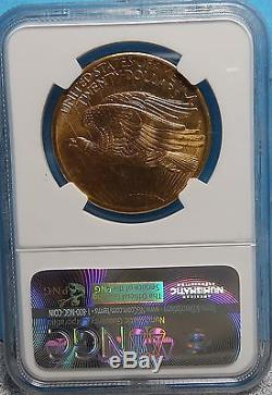 1907 $20 St. Gaudens Gold Double Eagle MS-64 NGC, Better Coin