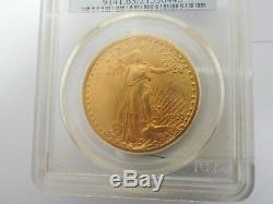 1907 $20 St. Gaudens Gold Double Eagle PCGS MS63
