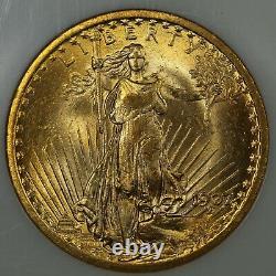 1907 $20 Twenty Dollar St Gaudens Gold Double Eagle NGC MS 63 CAC