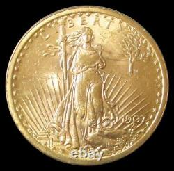 1907 Gold USA $20 Saint Gaudens No Motto Double Eagle Choice Au