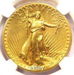 1907 High Relief Saint Gaudens Gold Double Eagle $20 Coin NGC AU Details