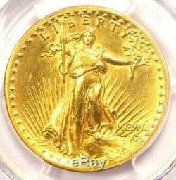 1907 High Relief Saint Gaudens Gold Double Eagle $20 Coin PCGS AU Details