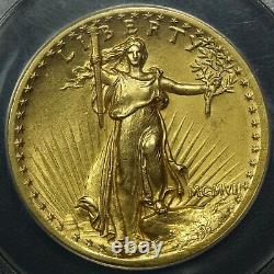 1907 High Relief St. Gaudens $20 Gold Double Eagle ANACS MS 61'GORGEOUS