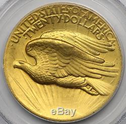 1907 High Relief Wire Edge Saint Gaudens Double Eagle Gold $20 MS 64 PCGS
