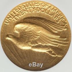1907 High Relief Wire Rim $20 St Gaudens Gold Double Eagle NGC AU55 CAC Key Date