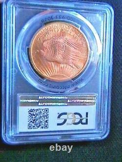 1907 MS 65 $20.00 GOLD SAINT GAUDENS DOUBLE EAGLE PCGS CERTIFIED (No Motto)