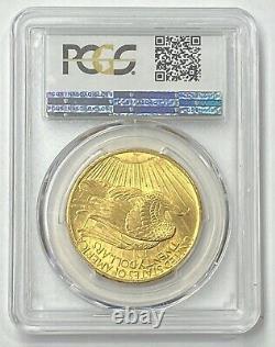 1907-P $20 Saint Gaudens Gold Double Eagle Pre-33 PCGS MS64 CAC Amazing 1st Year