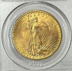 1907-P $20 Saint Gaudens Gold Double Eagle Pre-33 PCGS MS64 OGH Amazing 1st Year