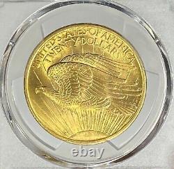 1907-P $20 Saint Gaudens Gold Double Eagle Pre-33 PCGS MS65+ First Year Gem PQ+