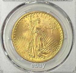 1907-P $20 Saint Gaudens Gold Double Eagle Pre-33 PCGS MS66 Super Gem 1st Year
