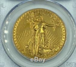 1907 PCGS Genuine High Relief-Wire Edge $20 Gold Saint Gaudens Double Eagle
