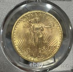 1907 PCGS MS65 $20 Gold Saint Gaudens Double Eagle