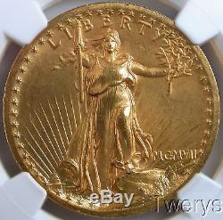 1907 Proof High Relief $20 Saint Gaudens Double Eagle Ngc Pf 65