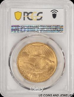 1907 Saint St. Gaudens $20 Gold Double Eagle PCGS and CAC MS64 First Year of I