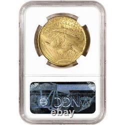 1907 US Gold $20 Saint-Gaudens Double Eagle NGC MS62