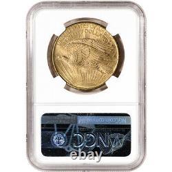 1907 US Gold $20 Saint-Gaudens Double Eagle No Motto NGC MS63