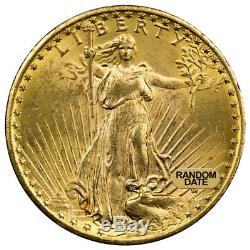 1908-1933 Random Date With Motto $20 Gold Saint-Gaudens Double Eagle BU SKU32197