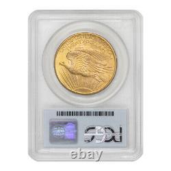 1908 $20 Gold Saint Gaudens Double Eagle PCGS MS68 No Motto Wells Fargo Hoard