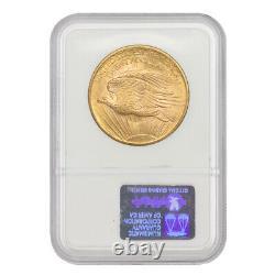 1908 $20 Gold Saint Gaudens NGC MS66 No Motto Philadelphia Minted Double Eagle