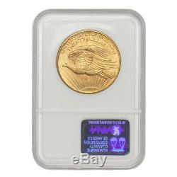 1908 $20 Gold Saint Gaudens NGC MS67 NM WF No Motto Wells Fargo Double Eagle