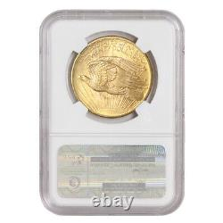 1908 $20 Gold Saint Gaudens NGC MS68 NM No Motto Double Eagle PQ Approved
