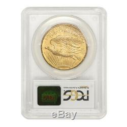1908 $20 Gold Saint Gaudens PCGS MS65 NM Gem graded Gold Double Eagle No Motto