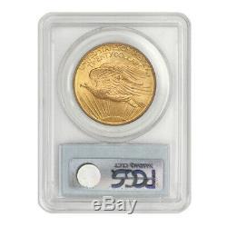 1908 $20 Gold Saint Gaudens PCGS MS65 NM Gem graded no motto double eagle coin