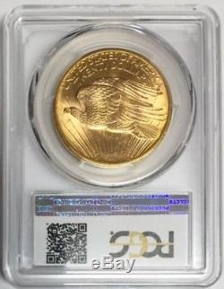 1908 $20 Gold St. Gaudens Double Eagle PCGS MS62 No Motto