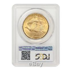 1908 $20 NM Saint Gaudens PCGS MS65 No Motto Gold Double Eagle Philadelphia coin