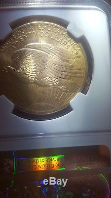 1908 $20 Ngc Ms 66 Wells Fargo Pedigree Saint Gaudens Double Eagle Lustrous