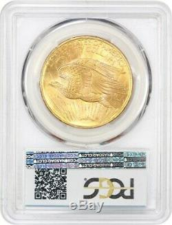 1908 $20 PCGS MS65 (No Motto) Saint Gaudens Double Eagle Gold Coin