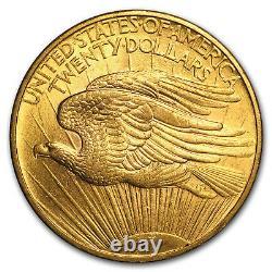 1908 $20 Saint-Gaudens Gold Double Eagle No Motto AU SKU#14705