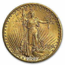 1908 $20 Saint-Gaudens Gold Double Eagle No Motto MS-62 PCGS SKU#45492