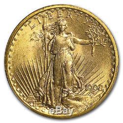 1908 $20 Saint-Gaudens Gold Double Eagle No Motto MS-65 PCGS SKU #11200