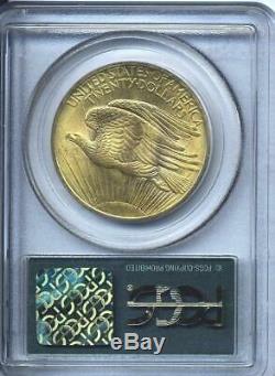 1908 $20 Saint Gaudens Gold Double Eagle No Motto PCGS MS 65 OGH